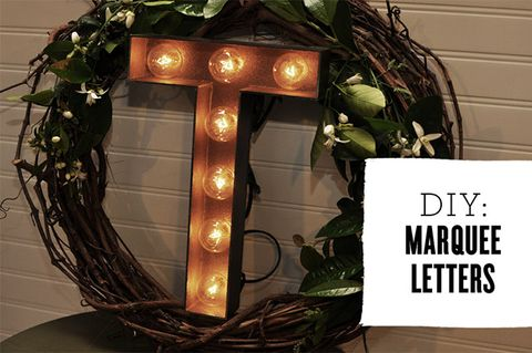 13 DIY Marquee Lights, Numbers And Letters For Wedding Decor