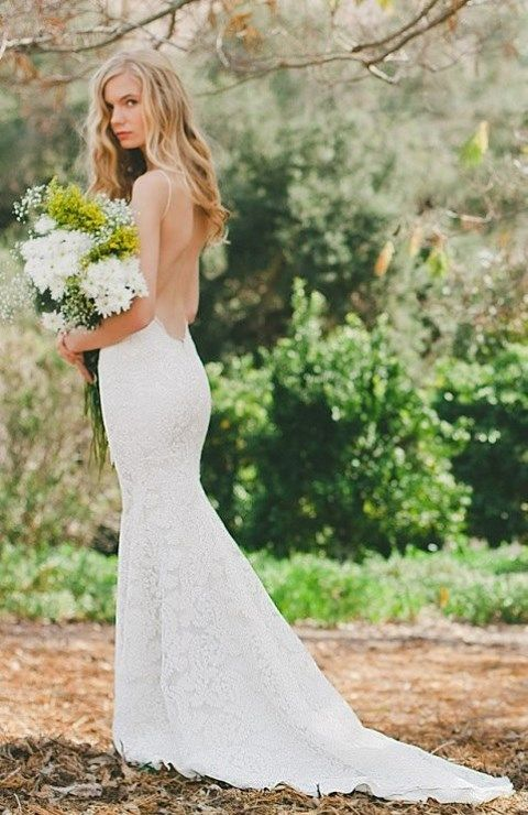 Back Yard Wedding Reception Bridal Dress