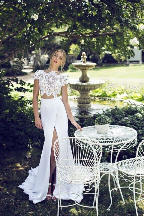 The Latest Wedding Trend: 44 Crop Top Bridal Outfits