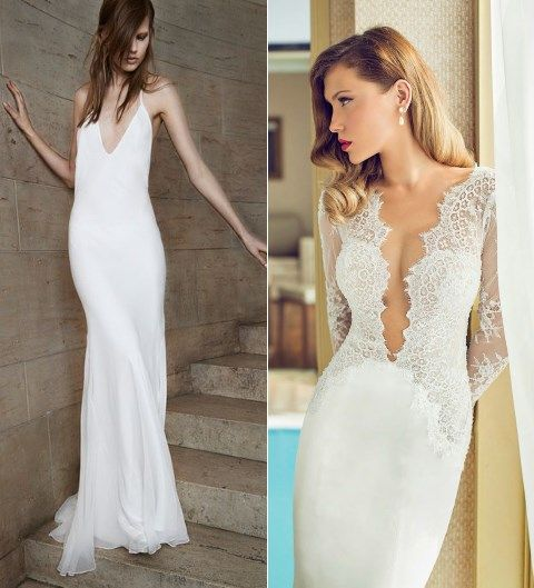 36 Incredibly Sexy Low Cut Wedding Gowns