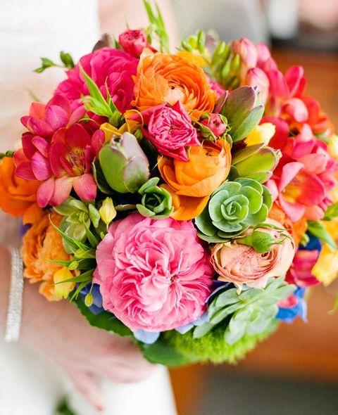 60 bright tropical wedding bouquets for Bright wedding bouquet