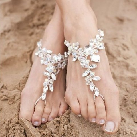 50 Beach Wedding Sandals And Foot Jewelry Ideas HappyWeddcom