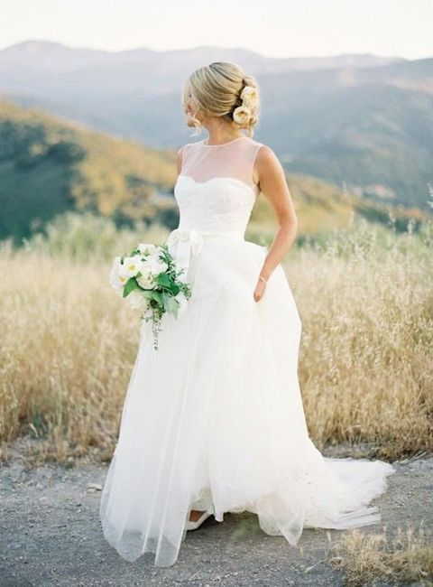 72 Breathtaking Illusion Neckline Wedding Gowns