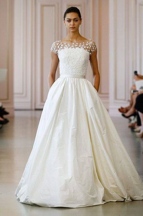 72 Breathtaking Illusion Neckline Wedding Gowns Happywedd