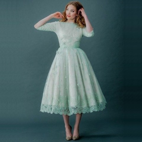 80 gorgeous vintage inspired tea length wedding dress for Shoes for tea length wedding dress