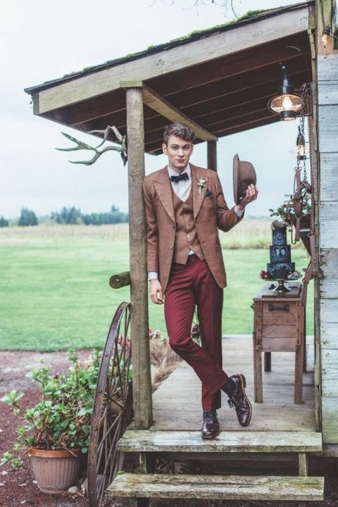 Vintage Groom Wedding Looks