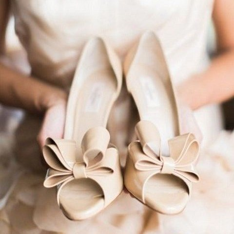 Hot Wedding Trend: 50 Nude Wedding Shoes