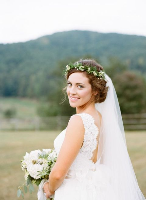 35 adorable wedding hairstyles to rock with a veil
