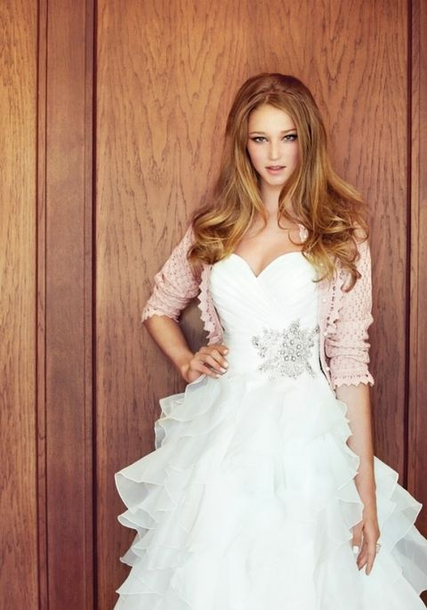6401c0add7a Wedding Dress Paired With A Cardigan  43 Ideas