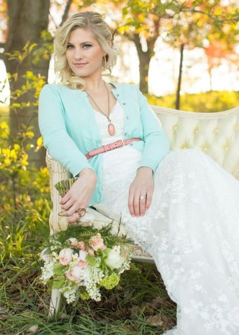 Wedding Dress Paired With A Cardigan: 43 Ideas