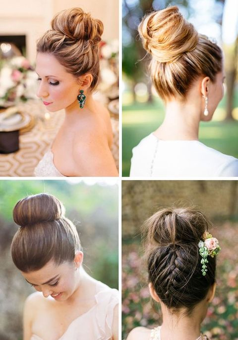 65 Elegant Bridal Top Knot Hairstyles Happywedd