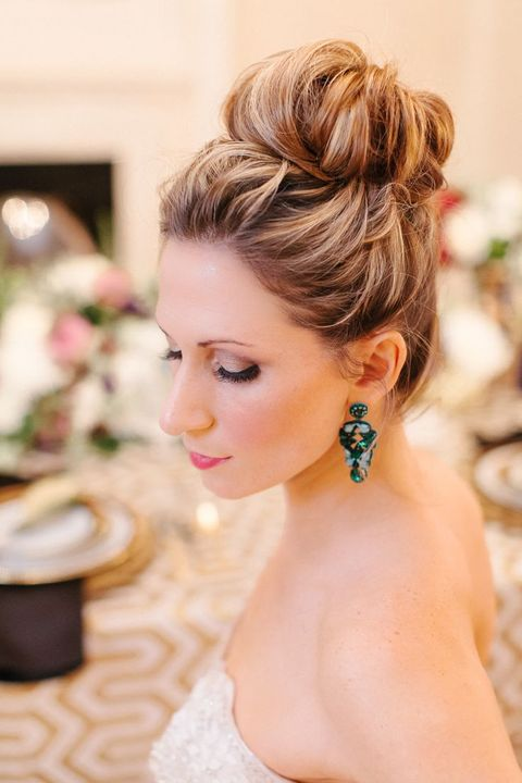 65 Elegant Bridal Top Knot Hairstyles