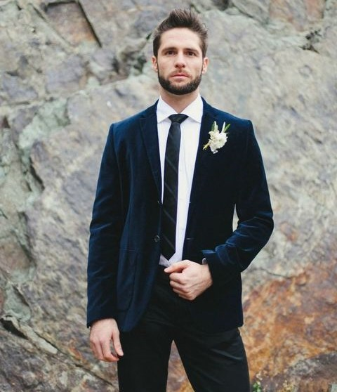 35 Velvet Suits And Accessories For Grooms And Groomsmen