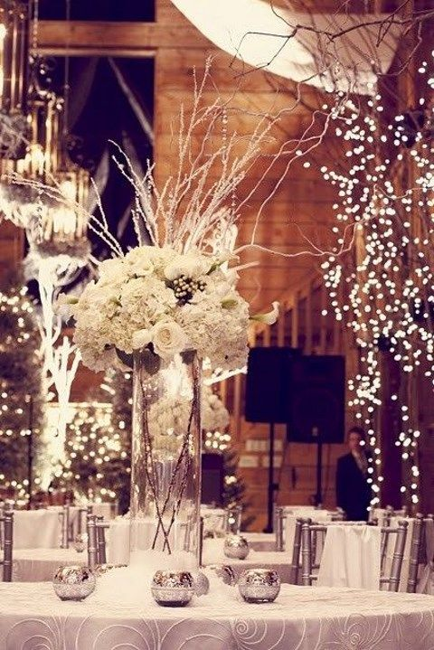 Winter Wonderland Wedding Decorations Ideas Part - 37: By Chloe