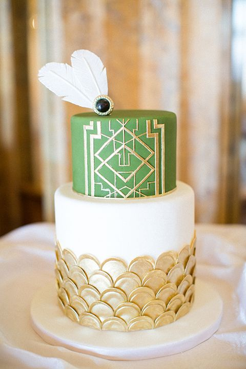 Art Deco Birthday Cake : 45 Breathtaking Art Deco Wedding Cakes HappyWedd.com