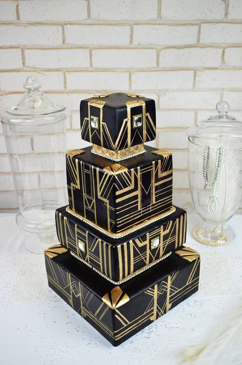 Art Deco Design Cake : 45 Breathtaking Art Deco Wedding Cakes HappyWedd.com