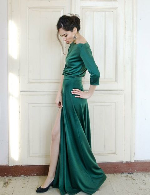 by Chloe - 30 Gorgeous Christmas Wedding Guest Outfits HappyWedd.com