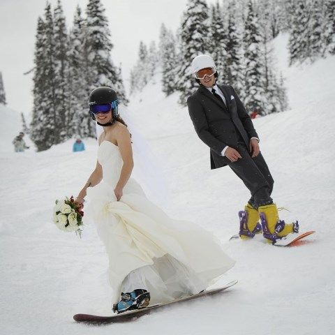 48 Lively Ski And Snowboard Wedding Ideas