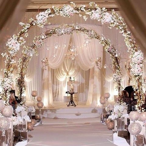 26 winter wedding arches and altars to get inspired for Archway decoration ideas