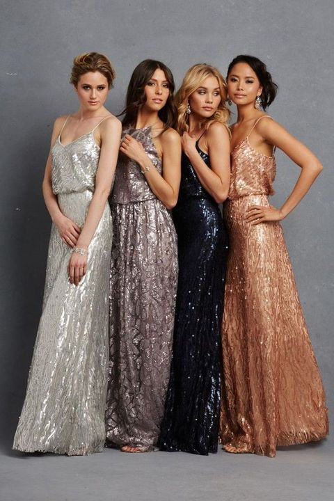 27 Shining Art Deco Bridesmaids\' Dresses | HappyWedd.com