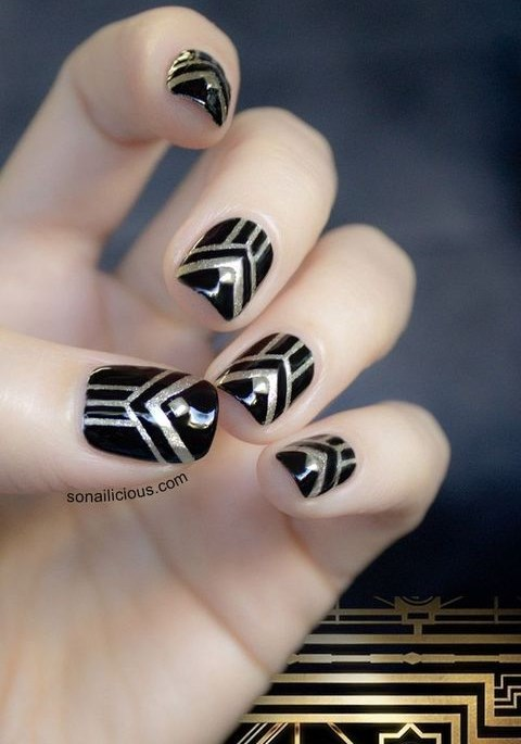30 Fabulous Art Deco Wedding Nails Examples