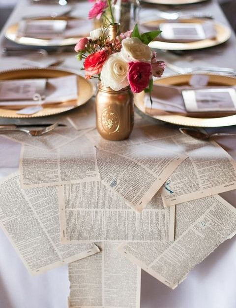 45 Book Page And Newspaper Ideas For Your Wedding