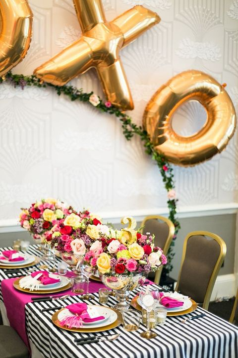 50 Cute Gold Touches For Valentine's Day Weddings