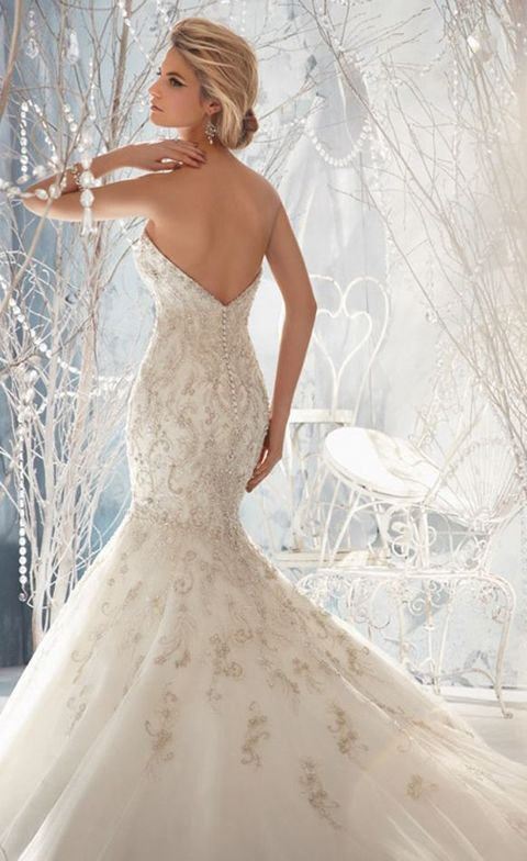 40 Gorgeous Ice Queen Wedding Dresses That Wow | HappyWedd.com