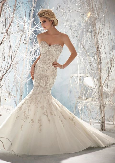 Wedding Dresses For Queens : Gorgeous ice queen wedding dresses that wow happywedd