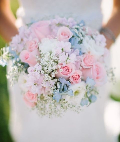 50 Enchanting Pastel Wedding Bouquets