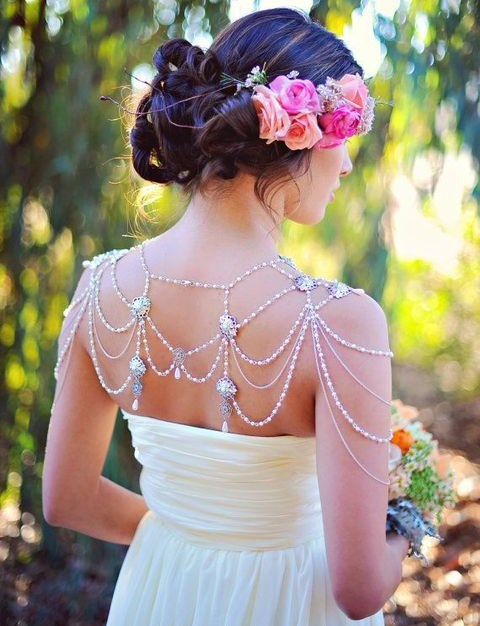 32 Trendy Bridal Shoulder Jewelry Ideas