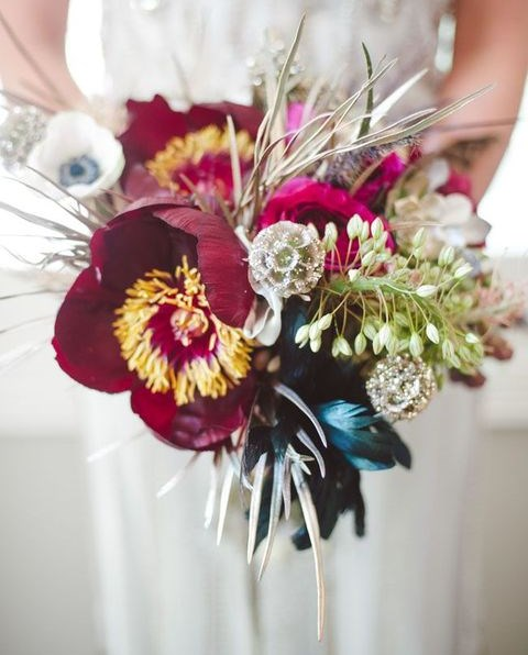 40 Playful Art Deco Wedding Bouquet Ideas | HappyWedd.com