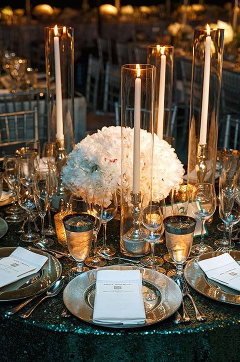 37 art deco wedding centerpieces that inspire. Black Bedroom Furniture Sets. Home Design Ideas