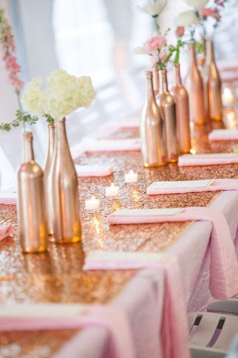 Copper and gold wedding