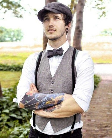 80 awesome groom looks with suspenders. Black Bedroom Furniture Sets. Home Design Ideas