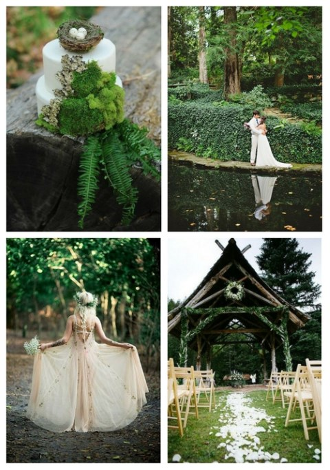 46 Ethereal Spring Woodland Wedding Ideas | HappyWedd com