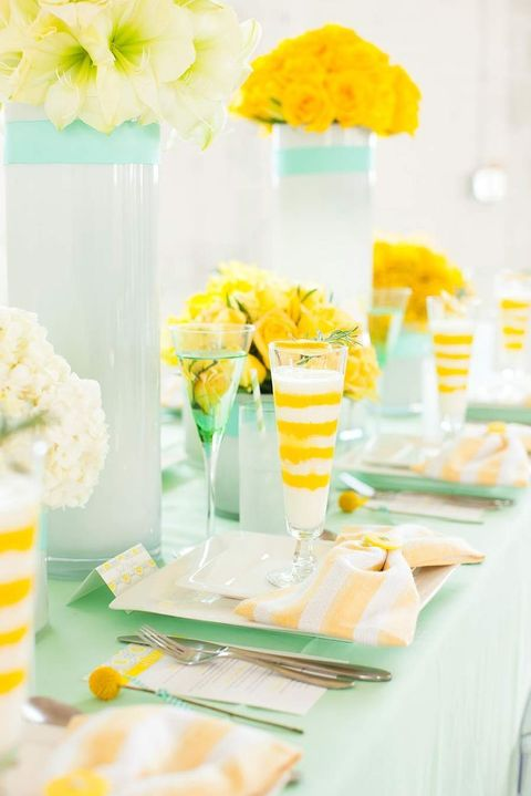 47 Refreshing Mint And Yellow Wedding Ideas To Try