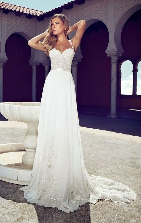 60 romantic and airy flowy wedding dresses | happywedd