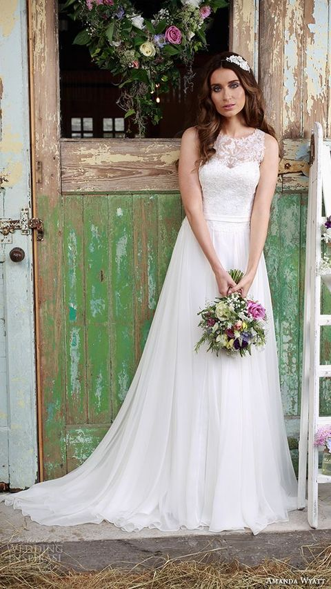 romantic flowy wedding dresses images