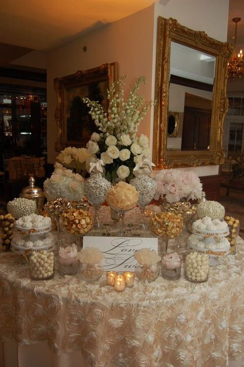 A candy bar is a great idea for any wedding because every guest can choose sweets according to his or her taste