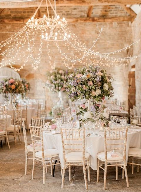 by Chloe & 61 Cozy And Charming Barn Wedding Table Settings | HappyWedd.com
