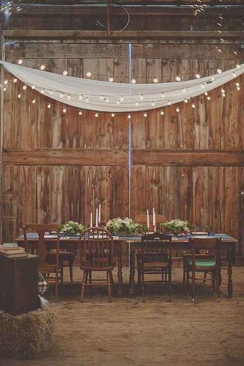 Lluminate your big day barn wedding lights ideas