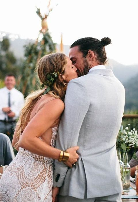 27 Grooms That Rock A Man Bun In A Stunning Way
