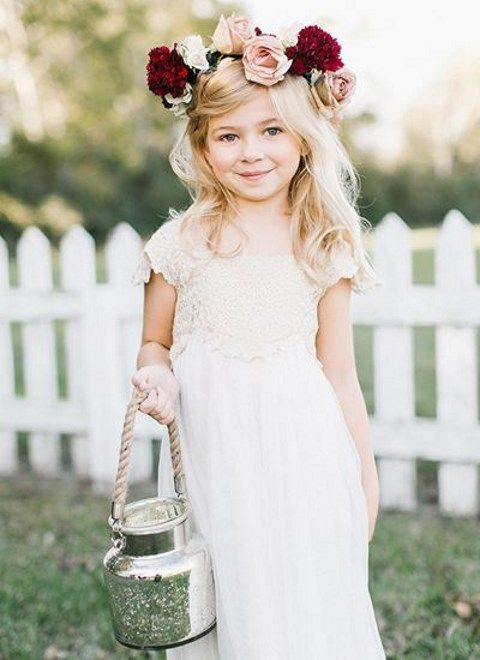 25 cute fall flower girl outfits. Black Bedroom Furniture Sets. Home Design Ideas
