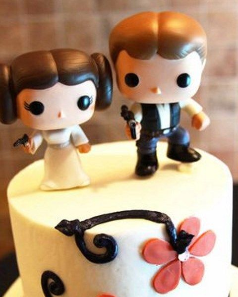 Nerdy Cake Toppers Wedding