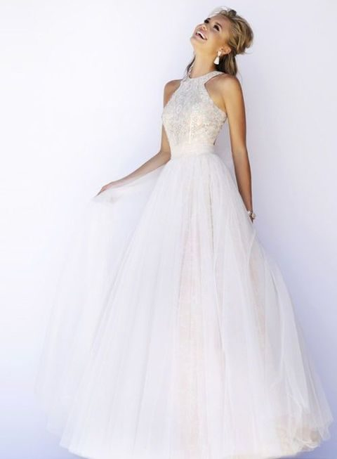 48 Trendy Halter Neckline Wedding Dresses | HappyWedd.com