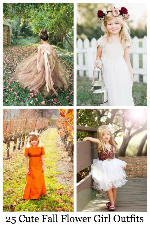 25 Cute Fall Flower Girl Outfits