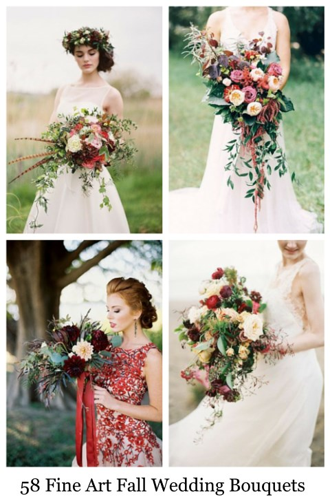 58 Fine Art Fall Wedding Bouquets