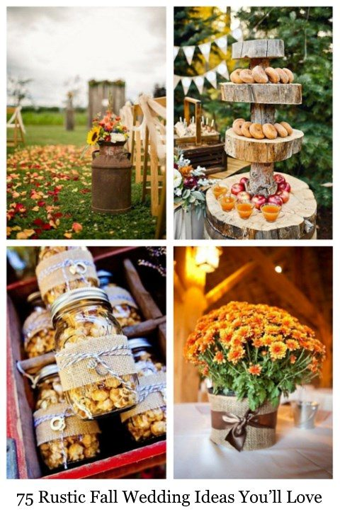 75 rustic fall wedding ideas youll love happywedd junglespirit