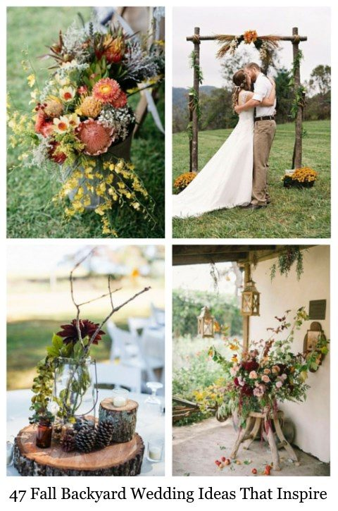 47 fall backyard wedding ideas that inspire happywedd junglespirit Choice Image